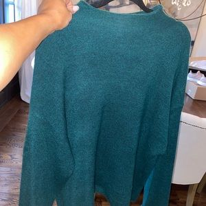 Leith forest green oversized sweater